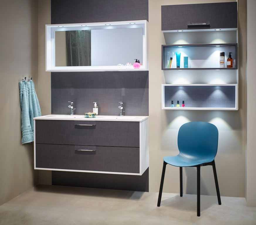 RBM Noor 6080 TealBlue Black legs Bathroom