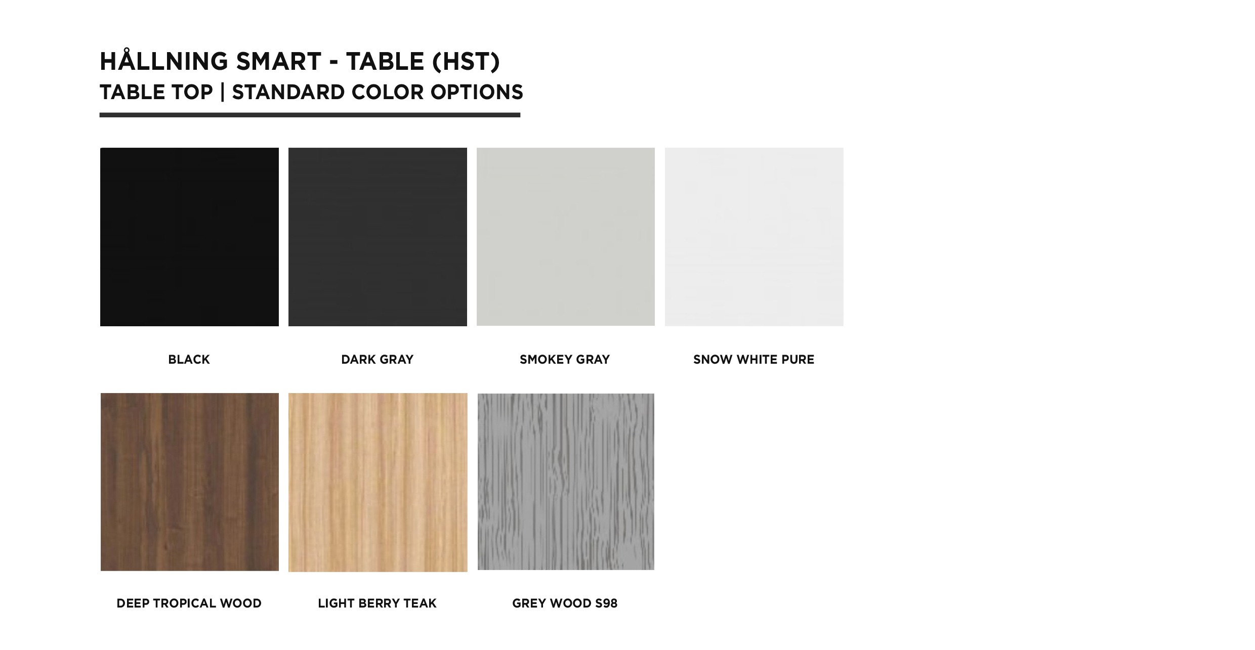 HALLNING - HST COLOR CHART